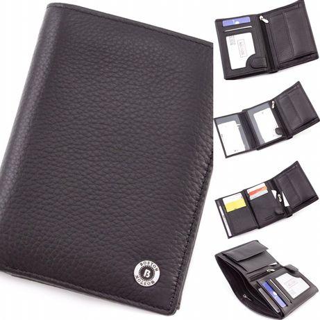 Мужской кожаный кошелек без застежки для документов BOSTON из Турция.
