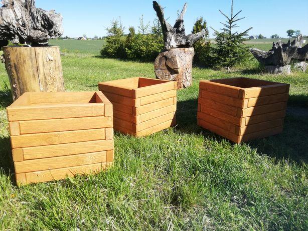 Donica drewniana solidna