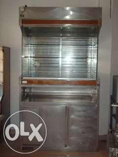 Expositor refrigerado + bancada inox 1400x800x2500 mm