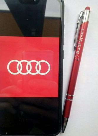Ручка Audi  Ауди, шариковая, алюминиевая, с мягким наконечником