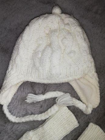 3 x czapki, rękawiczki i komin H&M /Reserved