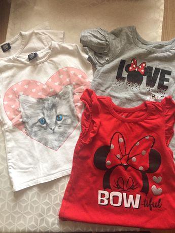 Koszulki dla dziewczynki/bliźniaczek rozm 92-98