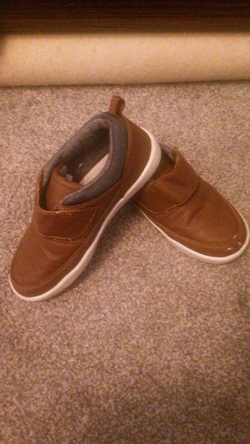 Brązowe buty na rzep