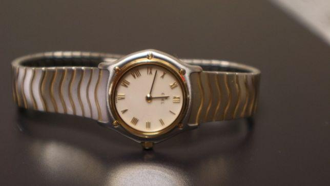 Zegarek damski Ebel -złoty bezel 18k masa perłowa