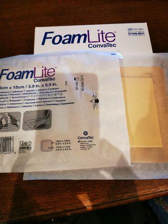 Opatrunek FoamLite 15x15 +Aquacel AG+10x10 razem 12szt
