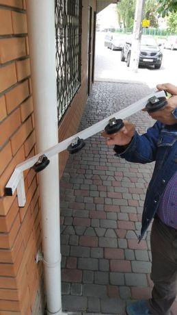 Сушилка металлическая с роликами для белья на балкон