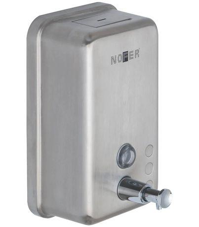 Настенный дозатор для жидкого мыла NOFER, 1.2 л, ВШГ 20х18х11 см, глян