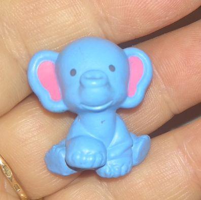 игрушка слоник слон 2 на 2. 5 см голубой слоненок миниатюрный фигурка