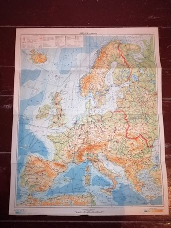 Карта Західна Европа 1956 года