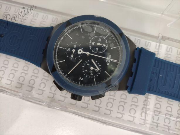 Zegarek męski Swatch Chrono PLASTIC X-DISTRICT blue SUSB418