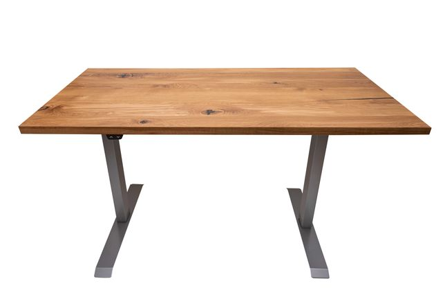 Dębowe biurko z elektrycznym stelażem. Dowolny wymiar. Różne rodzaje.