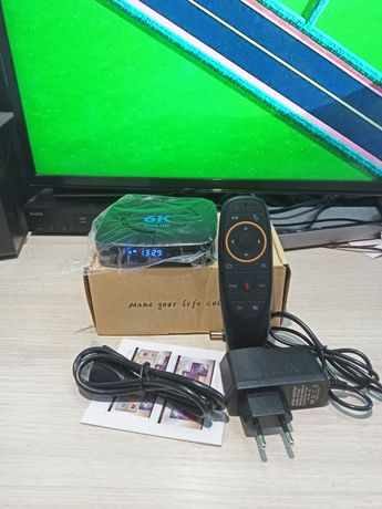 Transpeed 6K смарт тв приставка андроид 9.0 4G/32G IPTV h96 x96 TV box