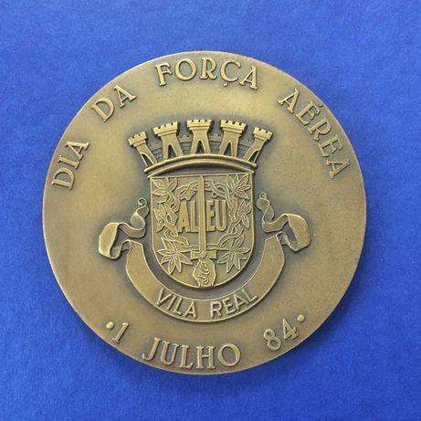 medalha em bronze - Dia da Força Aérea - Vila Real - 1984 - 85mm