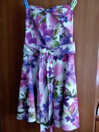 Sukienka bez ramiączek Orsay w przepiękny wzór kwiatowy obniżka ceny