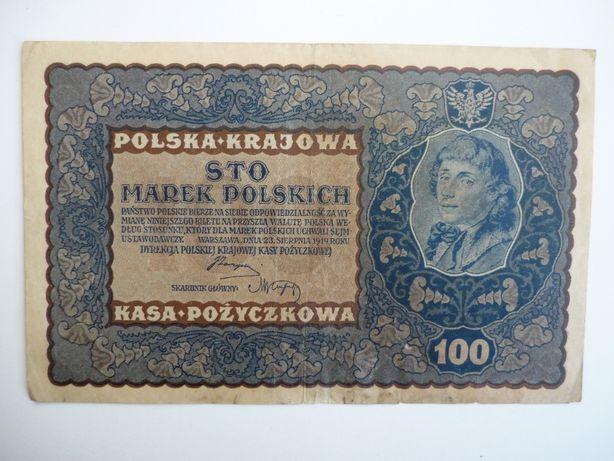 Banknot 100Marek 1919 oryginał Nr. 3