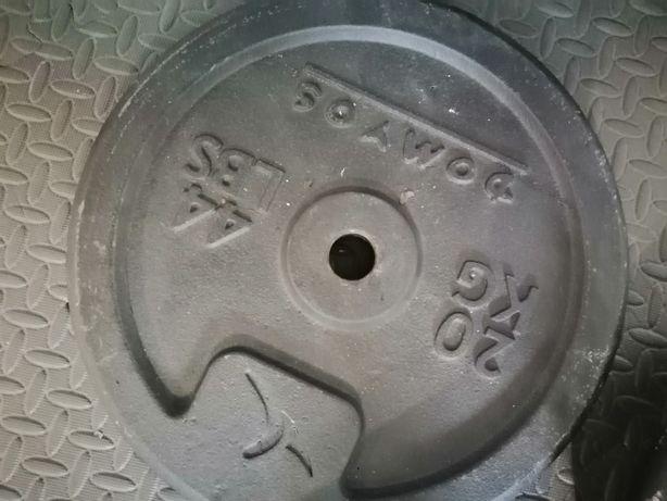 Discos pesos musculação