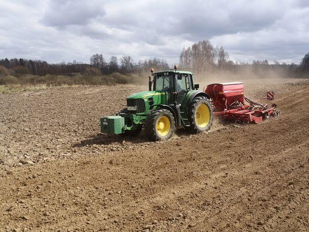 Usługi rolnicze. Siew zbóż i kukurydzy, orka, talerzowanie i inne