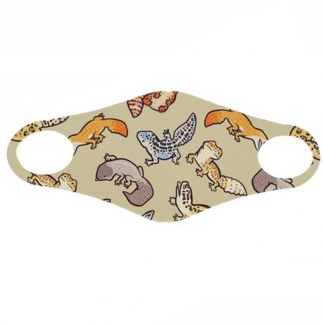 Maska maseczka ochronna gekony gekon jaszczurka gad