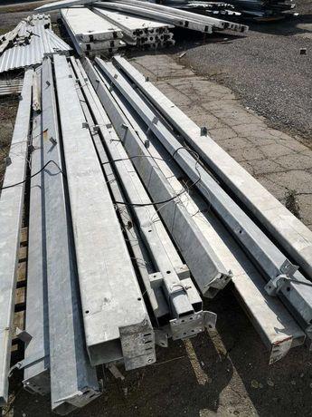 Стовби оцинковані, висота  6 м. Розмір 200 мм на 100 мм товщина 4.2