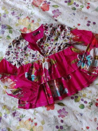 Tunica com padrão florido