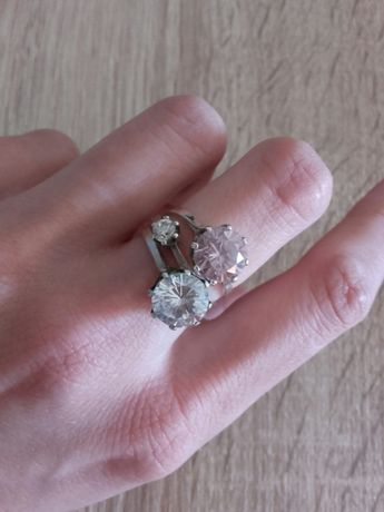 Srebrny pierścionek Zestaw 3 pierścionków z cyrkoniami srebro sygnowan
