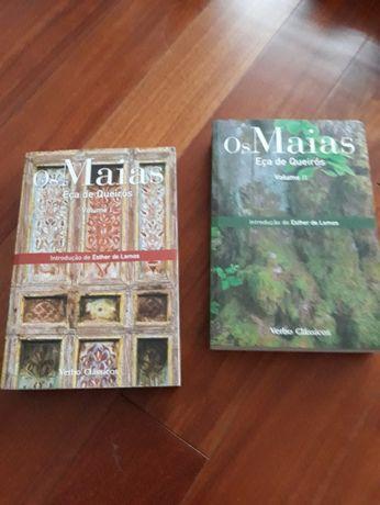 """Livro """"Os Maias"""" de Eça de Queirós - em dois volumes"""