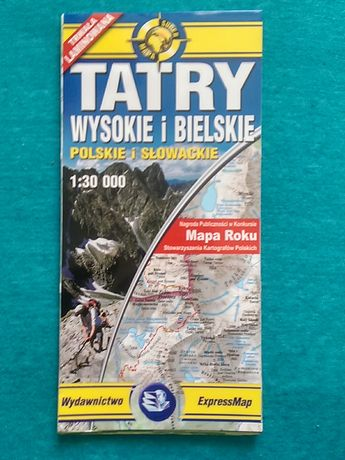 Mapa Tatry Wysokie i Bielskie laminowana Mapa Roku