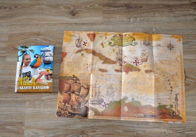 Książka Nela i skarby Karaibów mała Reporterka + mapa skarbów