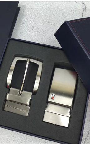 Pasek Tommy Hilfiger Calvin Klein czarny skórzany nowy na Prezent