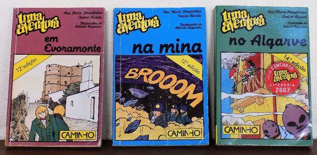 """Vendo 3 Livros: """"Uma Aventura"""""""