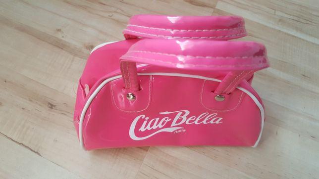 Różowa torebka kuferek