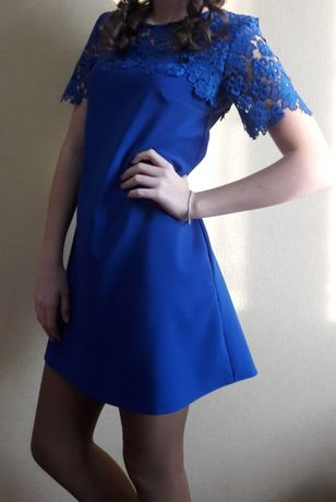Платье нарядное синего цвета