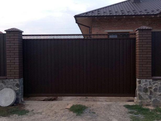 Ворота , откатные, розпашные, калитки, металлоконструкции!!