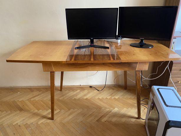Stół rozkladany drewniany  + 4 krzesla