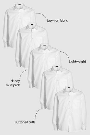Next белоснежная школьная  рубашка  128 см