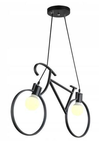 Lampa Sufitowa Żyrandol Rower 68x43 Cm Czarna
