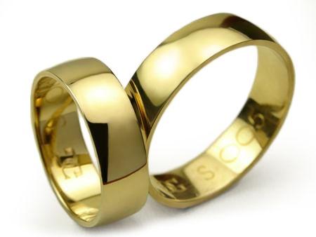 -20% Klasyczne Złote Obrączki pr. 585 S005 - 6mm - CHORZÓW Goldrun