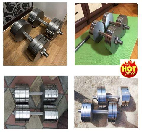 Гантелі сталь від 12 - 50 кг ПРЕМІУМ