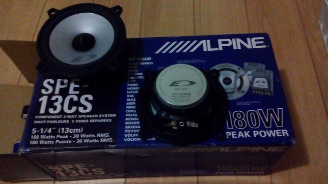 Colunas Alpine auto rádio