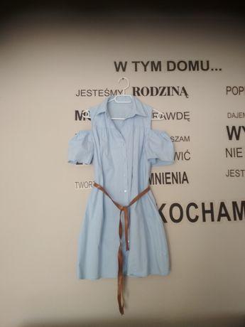 Sukienka hiszpanka błękitna M-L-XL