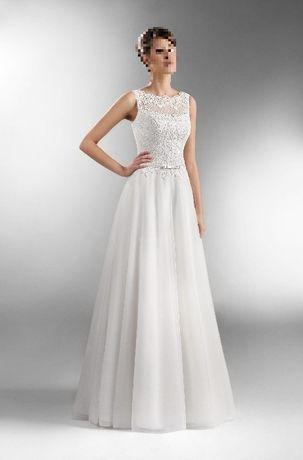 Suknia AGNES - rozmiar 36/38 biała, wzrost 163 cm + obcas