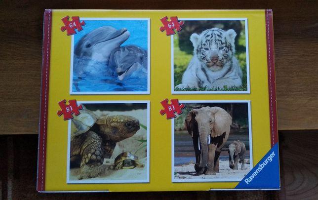 Puzzle zestaw puzzli zwierzęta jak nowe