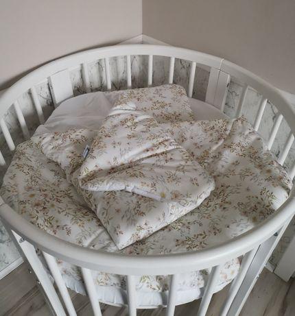 Okrągłe łóżeczko dziecięce 8w1 + materac + akcesoria *stan idealny*