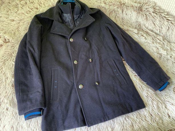 Parka,casaco da Hugo Boss,azul escuro.