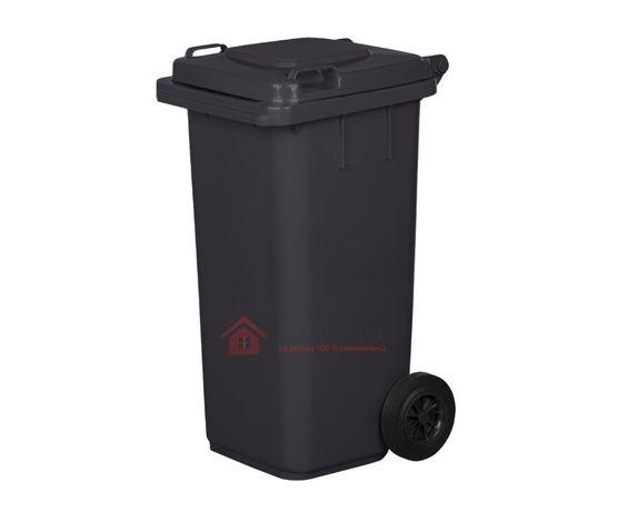 POJEMNIK na odpady BIOdegradowalne KOSZ na śmieci 120L Śmietnik BRĄZ