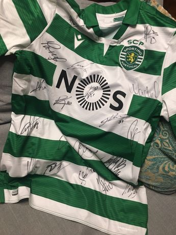 Camisola Sporting 19/20 autografada