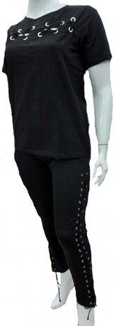 Komplet bluzka i spodnie wiązanie 40/42/44/46/48/50  2XL 3XL  4XL
