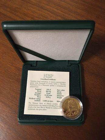 Moneta zlota 100 zl Przemyslaw ll 2004