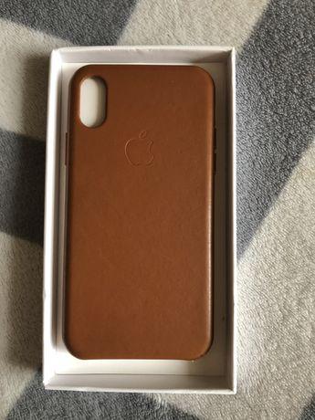Skórzany oryginalny case iphone x apple