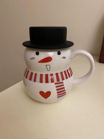 Продам чашку снеговик